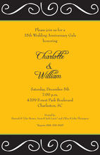Drawing Scroll Yellow Invitations