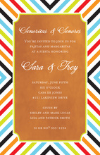 Diagonal Stripes Orange Invitations