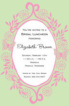 Butterfly Frame Invitation