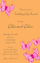 Winged Pink Butterfly Invitations