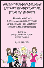Cute Party Girl Squad Invitations