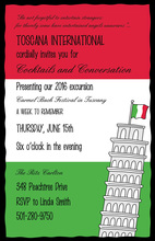 Pisa Tower Italy Invitations