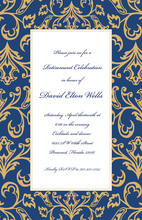 Old World Blue Invitation