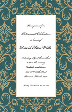 Old World Green Invitations