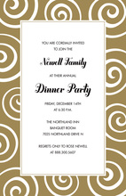 Elegant Gold Rush Swirl Invitations