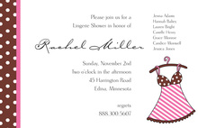 Little Lingerie Pink Stripes Invitation