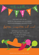 Chalkboard Fun Fiesta Party Invitations