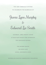 Green Watercolor Wash Invitations