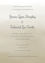 Brown Watercolor Wash Invitations