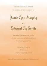 Orange Watercolor Wash Invitations