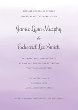 Lavender Watercolor Wash Invitations