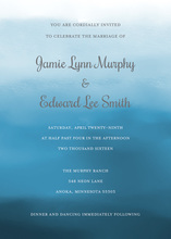 Navy Watercolor Wash Invitations