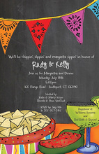 Chalkboard Fiesta Banners Party Invitations