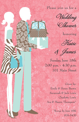 Shower Couple Bring Gifts Invitation