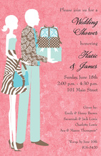 Pink Silhoutte Couple Invitations
