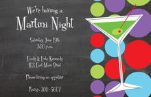 Martini Night Chalkboard Invitations