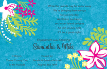 Silhoutte Exotic Tropical Invitations