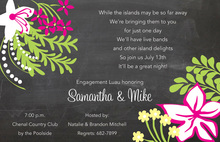 Tropical Chalkboard Invitations