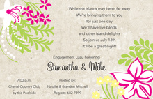 Ivory Tropical Invitations