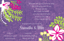 Tropical Floral Garden Invitations