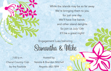 Exotic Floral Silhouette Invitations