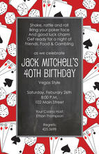 Red Chalkboard Gaming Invitations