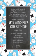 Gambling Style Party Invitations