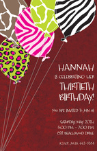 Wildest Balloons Red Invitations