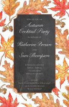 Chalkboard Fall Leaves Invitation