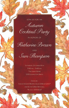 Red Leaves Classic Invitations