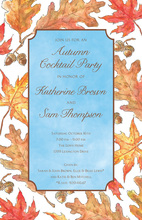 Vintage Fall Leaves Invitation