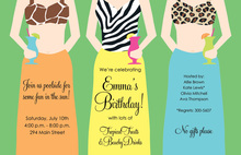 Sexiest Beach Girl Invitations