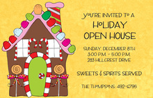 Gingerbread Home Invitations