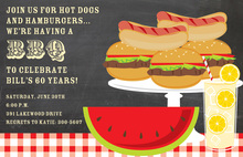 BBQ Fresh Watermelon Invitations