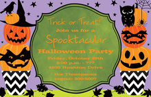 Stacked Jack Halloween Invitations