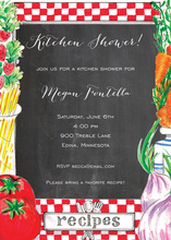 Kitchen Recipe Chalkboard Invitations