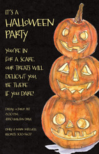 Trio Jack Pumpkin Invitations