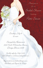 Holiday White Dress Invitations