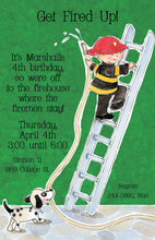 Hero Firefighter Party Invitations