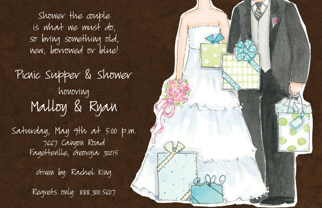 Cherish Couple Shower Invitations