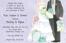 Awarding Couple Shower Invitations