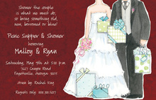 Grateful Couple Shower Invitations