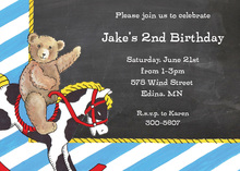 Teddy Bear Chalkboard Invitations