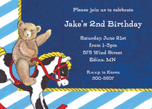Teddy Bear Navy Invitations