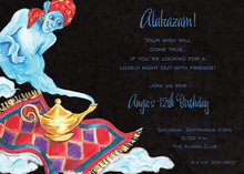 Flying Whimsical Genie Invitations