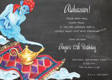 Smiling Genie Party Invitations