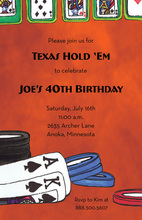 Texas Poker Game Invitations