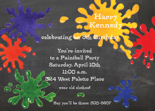 Splash Painted Party Invitations