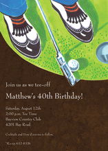 Playing Golf Party Invitations
