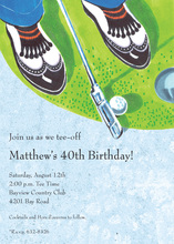 Mini Putt Golfer Invitations